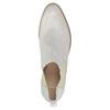 Kožené Chelsea boty s perforací bata, bílá, 596-1651 - 19