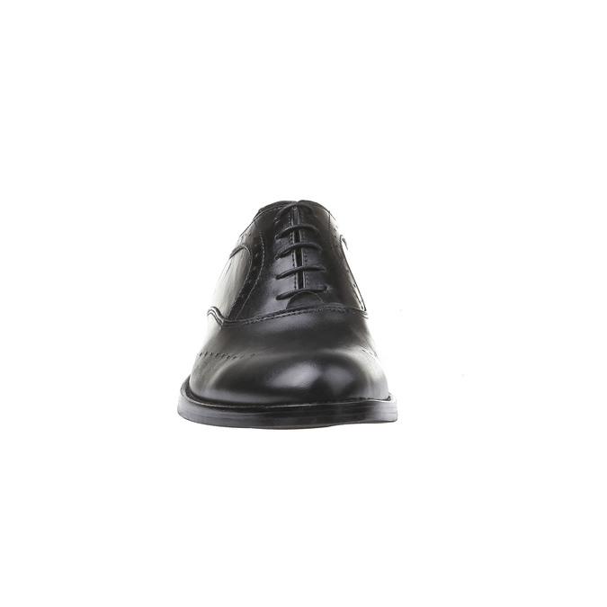 Kožené polobotky fluchos, černá, 824-6627 - 16