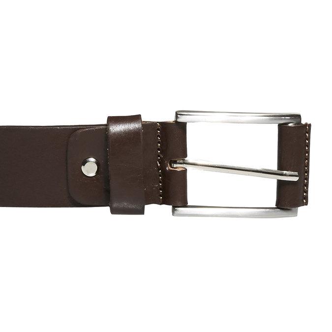 Klasický kožený pásek bata, hnědá, 954-4833 - 26