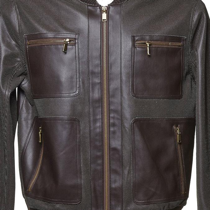 Pánská bunda s perforací bata, hnědá, 971-4173 - 16