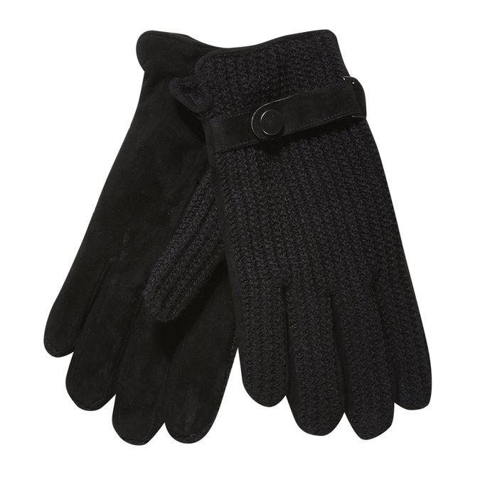 Pánské rukavice s pleteninou bata, černá, 909-6295 - 13