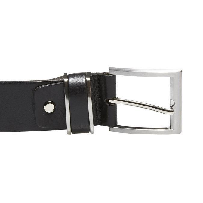 Pánský kožený opasek bata, černá, 954-6130 - 26