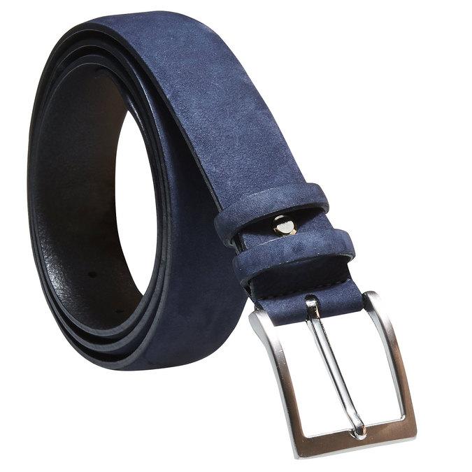 Pánský kožený opasek bata, modrá, 954-9120 - 13