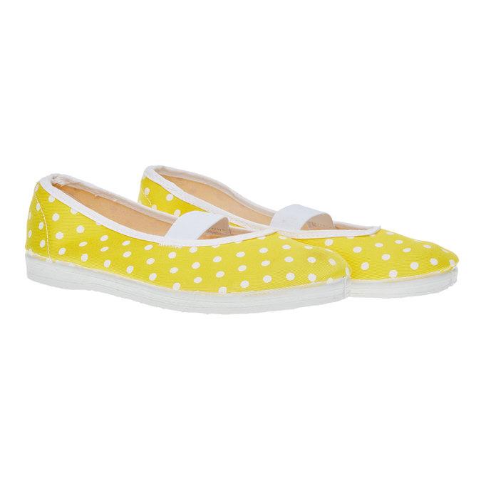 Cvičky s puntíky bata, žlutá, 379-8103 - 26