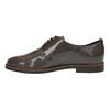 Dámské kožené polobotky bata, hnědá, 528-2600 - 26