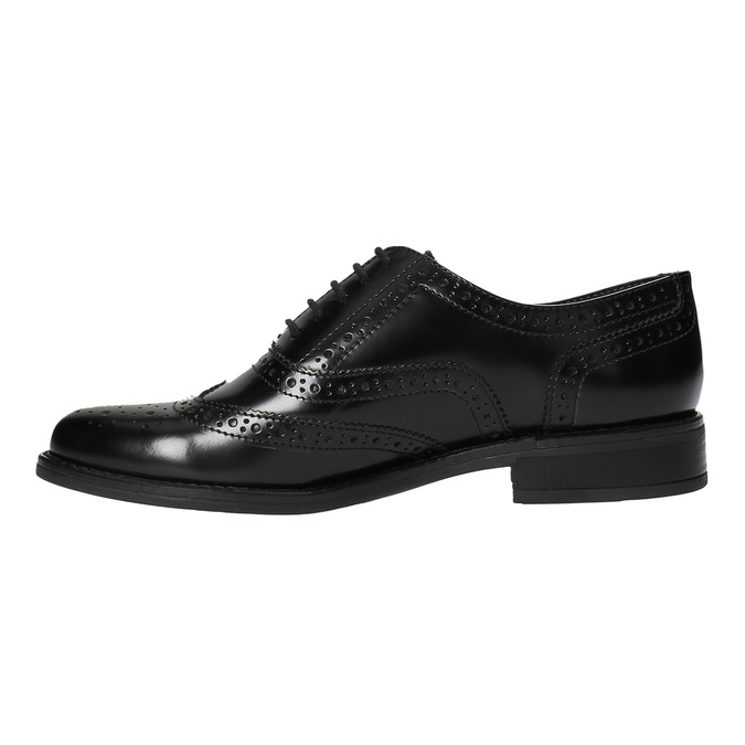 Dámské polobotky bata, černá, 524-6600 - 26