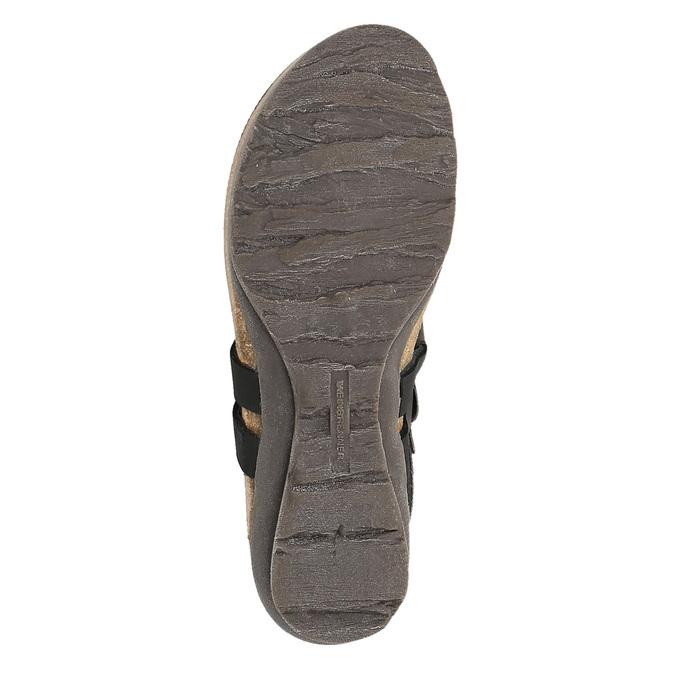 Dámské kožené sandály weinbrenner, černá, 566-6101 - 26
