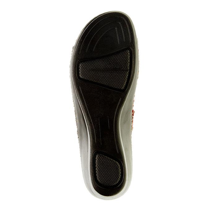 Dámské pantofle na klínovém podpatku comfit, červená, 674-5249 - 26