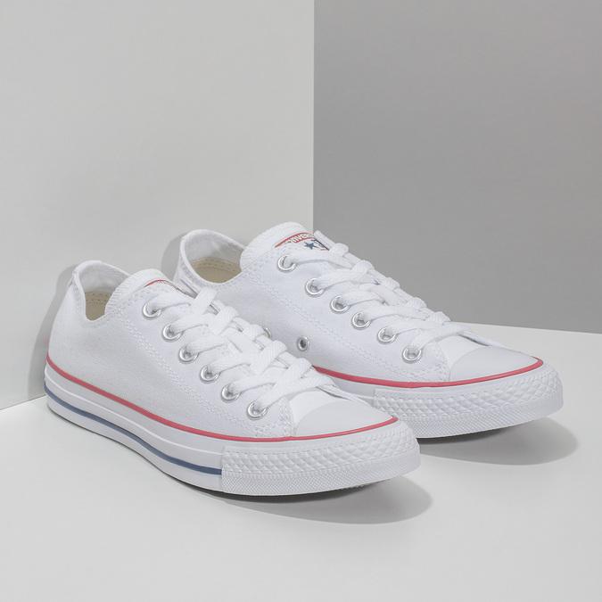 Dámské bílé tenisky s gumovou špičkou converse, bílá, 589-1279 - 26