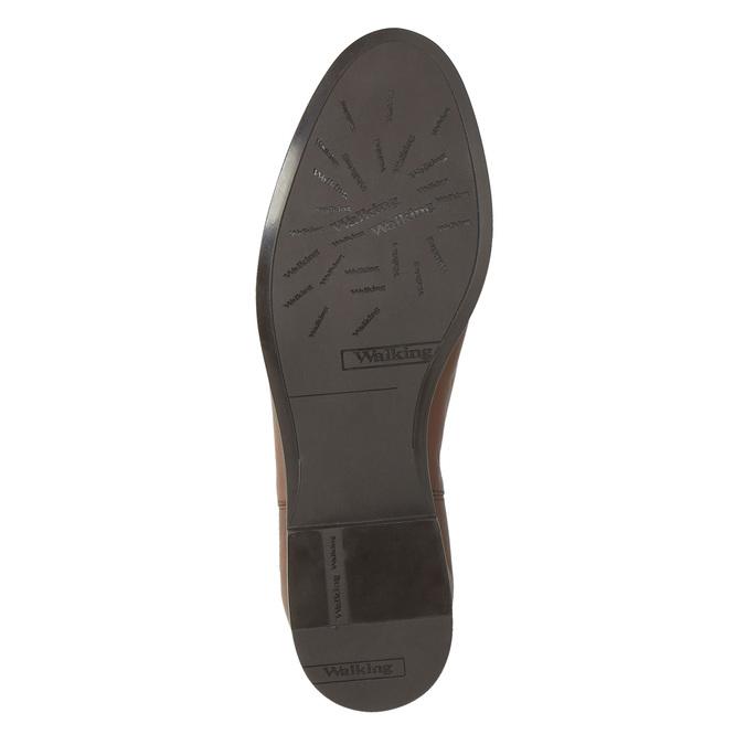 Kožené hnědé Chelsea Boots bata, hnědá, 594-4604 - 26