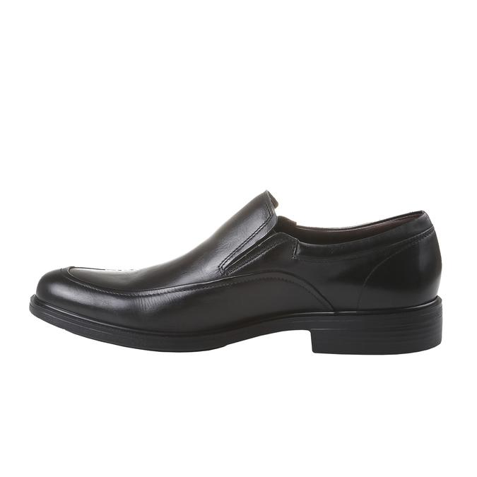 Komfortní polobotky z kůže bata-comfit, černá, 814-6934 - 15