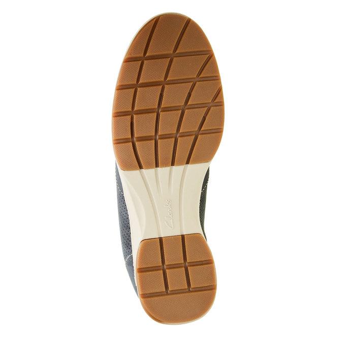Pánská obuv z broušené kůže clarks, modrá, 826-9006 - 26