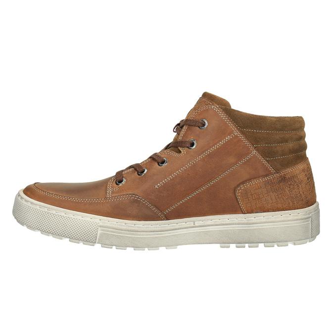 Pánské kotníčkové tenisky bata, hnědá, 826-3650 - 26