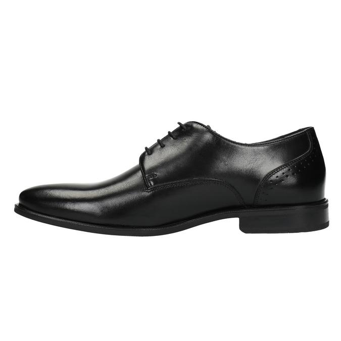 Pánské kožené polobotky bata, černá, 824-6705 - 26
