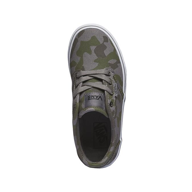Dětské tenisky s maskáčovým vzorem vans, zelená, 389-7194 - 19