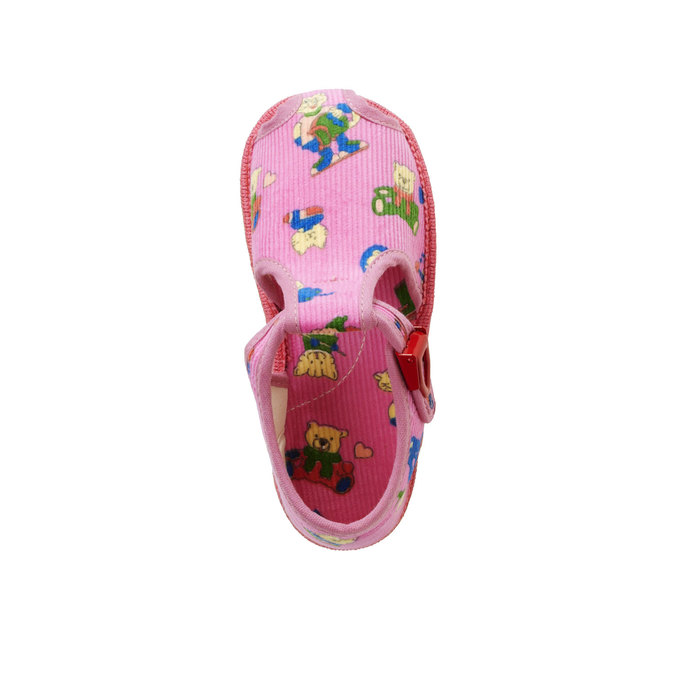 Dětská domácí obuv bata, růžová, 179-5210 - 19