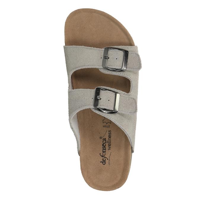 Dámské kožené pantofle de-fonseca, béžová, 573-8620 - 19