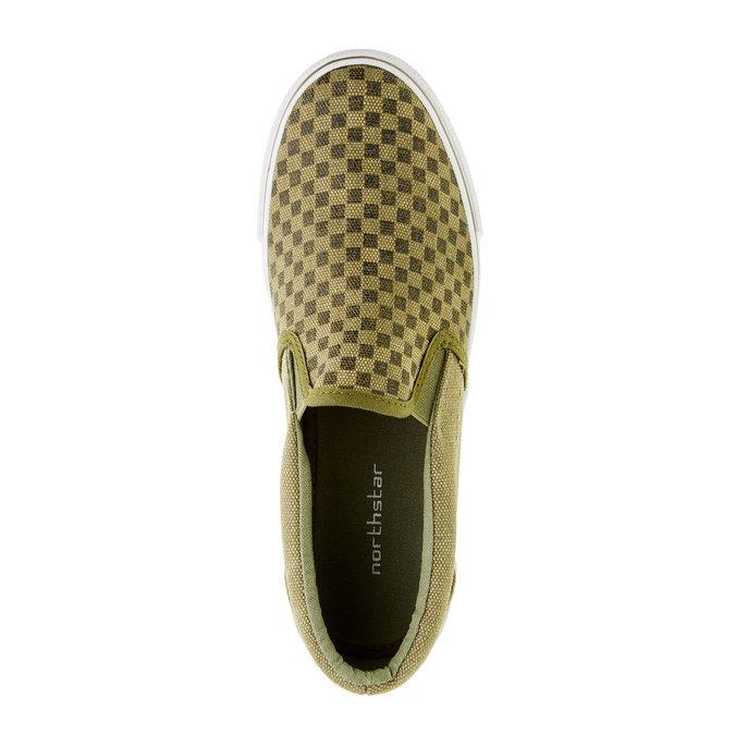 Dětská obuv typu Slip-On mini-b, zelená, 319-7215 - 19