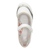 Bílé baleríny s páskem přes nárt bata, bílá, 321-1310 - 19