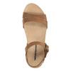 Dámské kožené sandály weinbrenner, hnědá, 566-4102 - 19