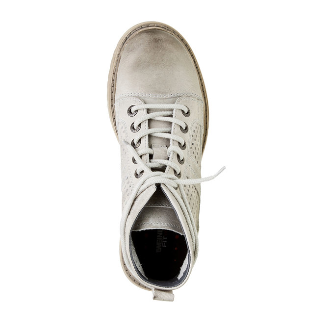 Kožené kotníčkové boty weinbrenner, šedá, 594-2138 - 19