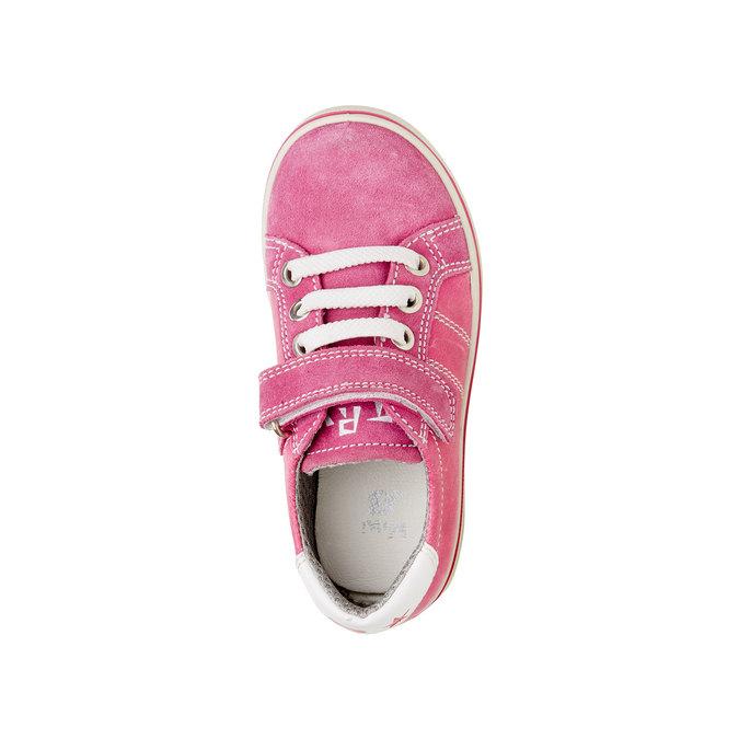 Dětské kožené tenisky mini-b, růžová, 223-5120 - 19