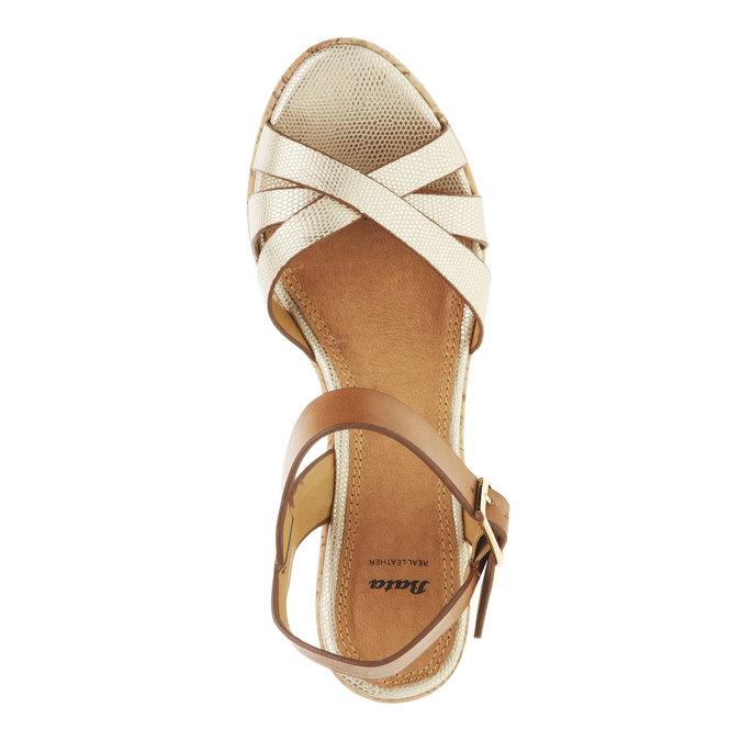 Dámské sandály na platformě bata, béžová, 2021-751-8300 - 19