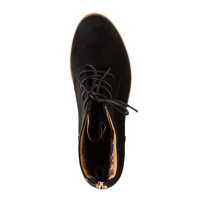 Kotníčkové boty se zipem bata, černá, 599-6493 - 19