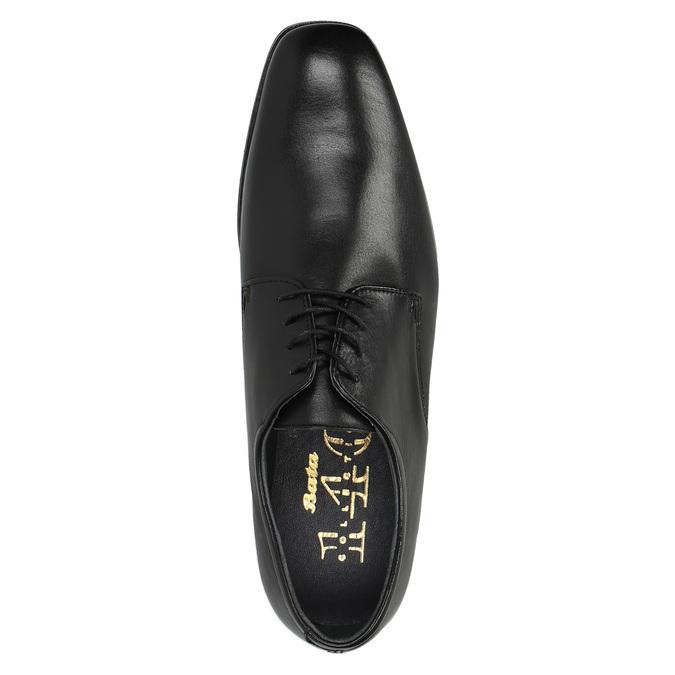 Kožené polobotky v Derby střihu bata, černá, 824-6674 - 19