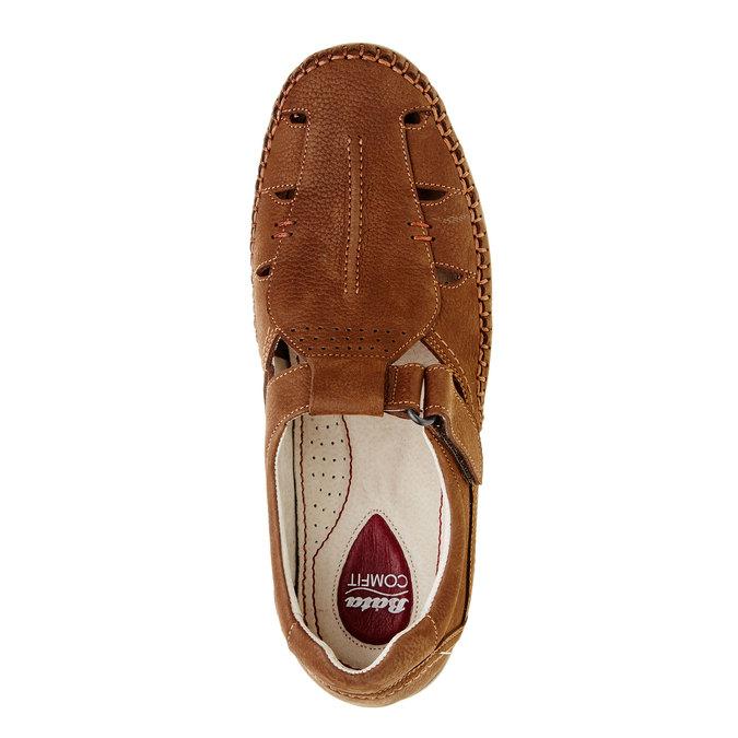 Pánské kožené sandály comfit, hnědá, 866-4184 - 19