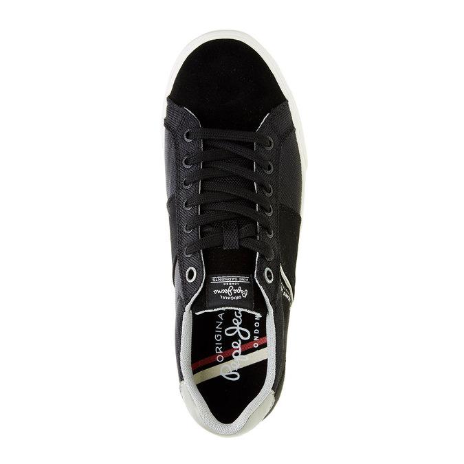 Černé pánské tenisky pepe-jeans, černá, 849-6008 - 19