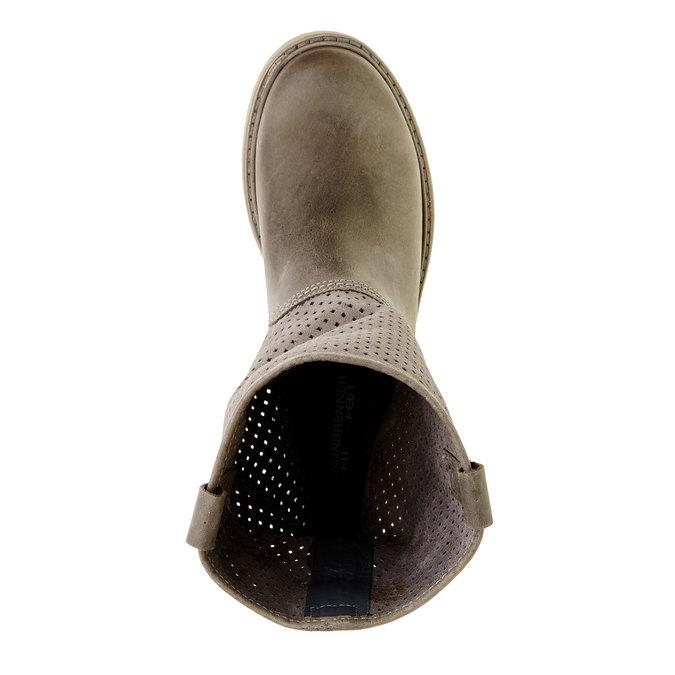 Dámské boty z broušené kůže weinbrenner, hnědá, 596-9102 - 19