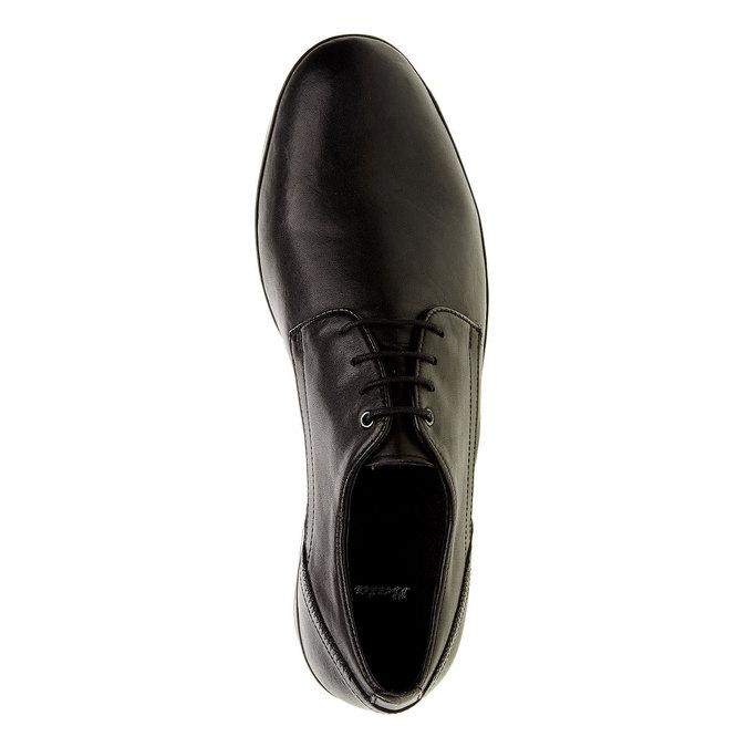 Kožené polobotky v Derby střihu bata, černá, 824-6300 - 19