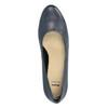 Dámské kožené lodičky bata, modrá, 624-9601 - 19