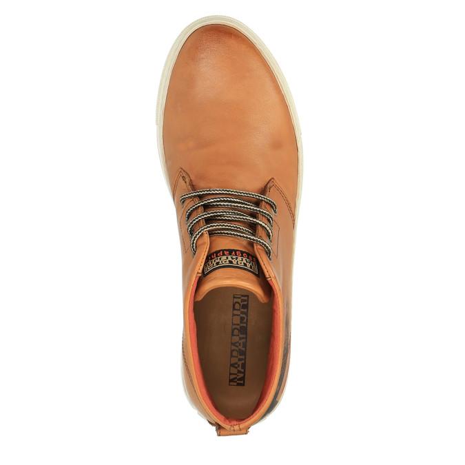 Kožená kotníčková obuv napapijri, hnědá, 894-3006 - 19