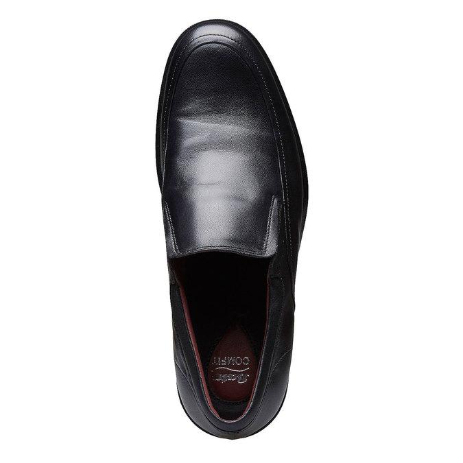 Komfortní polobotky z kůže bata-comfit, černá, 814-6934 - 19