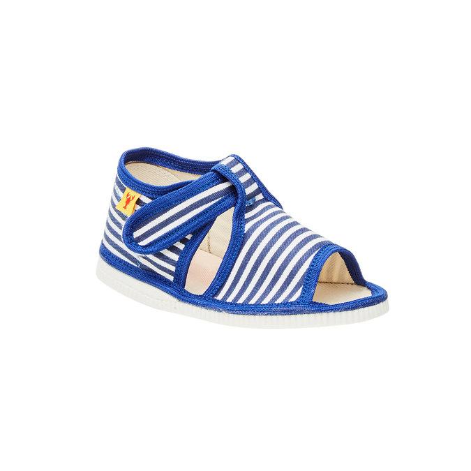 Dětská domácí obuv bata, modrá, 179-9102 - 13