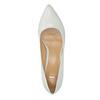 Bílé kožené lodičky bata, bílá, 624-1630 - 19