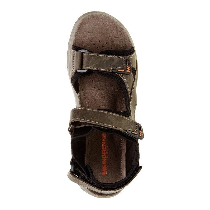 Pánské kožené sandály weinbrenner, hnědá, 866-2106 - 19