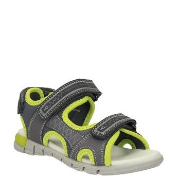 Dětské sandály mini-b, šedá, 363-2182 - 13