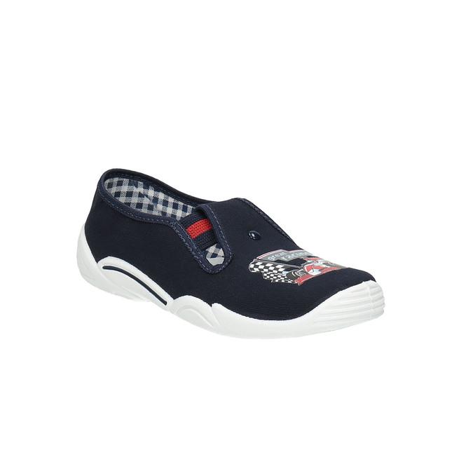 Dětská domácí obuv mini-b, modrá, 379-9211 - 13