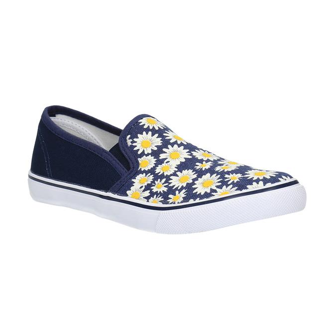 Dětská obuv typu Slip-On mini-b, modrá, 329-9189 - 13