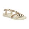 Kožené sandály s pletenými pásky, béžová, 2019-564-8353 - 13