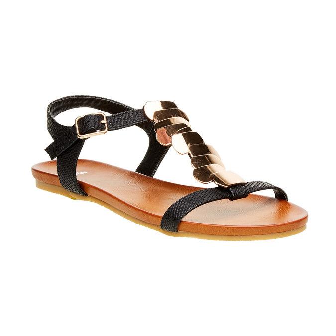 Dámské sandály bata, černá, 561-6301 - 13