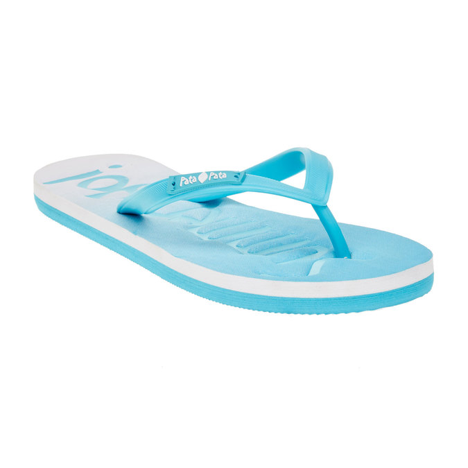 Dámské žabky pata-pata, modrá, 581-9601 - 13