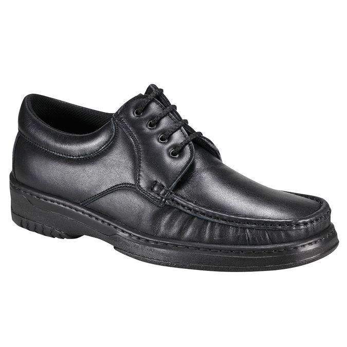 Kožená obuv pinosos, černá, 824-6760 - 13