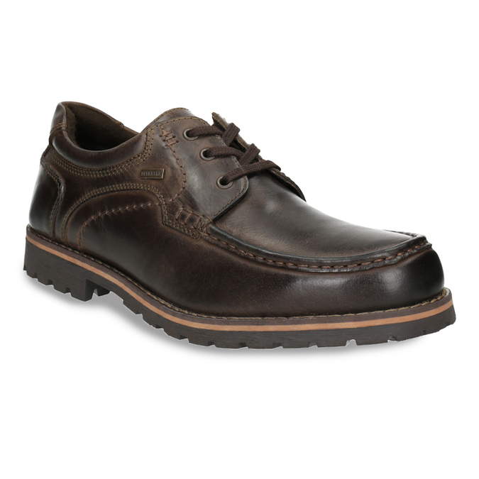 Kožené ležérní polobotky bata, hnědá, 826-4640 - 13