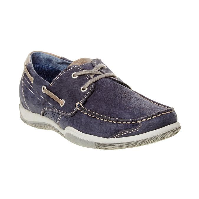 Ležérní kožené mokasíny bata, modrá, 856-9176 - 13