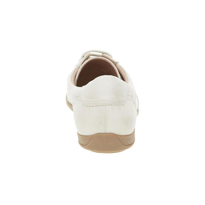 Ležérní kožené tenisky bata, bílá, 524-1511 - 17