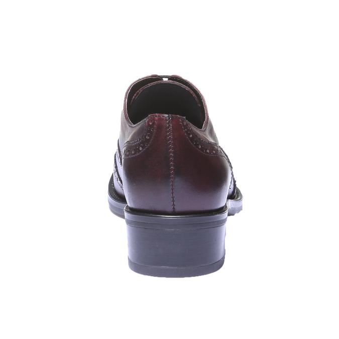 Kožené oxfordky s brogue zdobením bata, 2019-524-5185 - 17